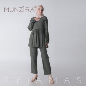 Piyama Basic Rayon Uniqlo - Munzira - Army