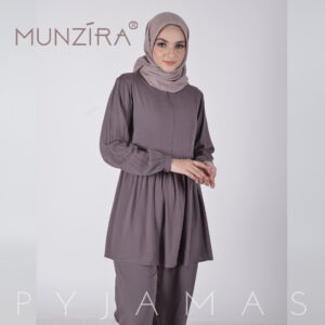 Piyama Basic Rayon Uniqlo - Munzira - Grey
